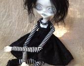 RESERVED.... Black Goth Art Doll Efthemia