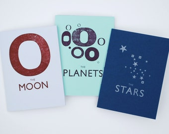The Stars, Moon and Planets Letterpress Zines