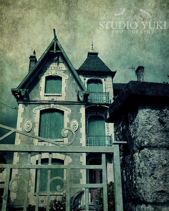 Haunted House Photo Halloween Decor Goth Wall Art Fantasy