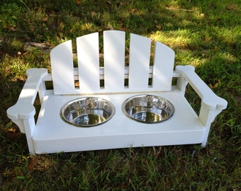 Adirondack Food & Water Station for Your Pets