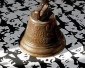 Cow Bell 1878 CHIANTEL FONDEUR, SAIGNELEGIER Swiss Brass Antique Sleigh Bell