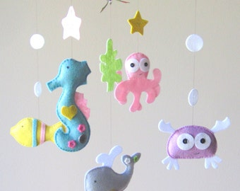 Baby Mobile - Mobile - Under the Sea Mobile - Nursery Mobile