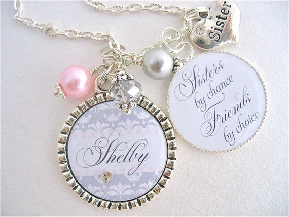 Wedding Gift For Bride From Best Friend : SISTER Gift BEST FRIENDS Wedding Quote Bridal Jewelry Sisters by ...