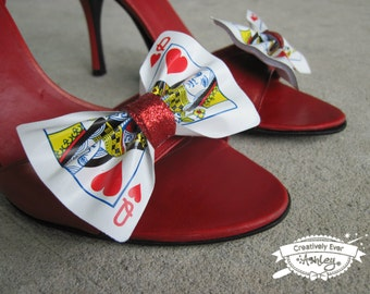 Custom real Playing Card shoe clips set