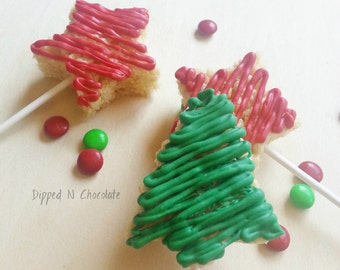 Christmas Rice Krispie Pops (12)