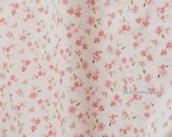 Fabric Pink Flower Fabric,Shabby Chic Flower Fabric,Pink Floral Cotton Fabric 1/2 Yard (QT297)