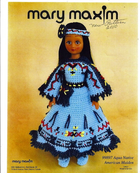 Sage Native American Maiden Crochet Doll Clothes Pattern