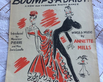 Boomps-A-Daisy original 1930s sheet music