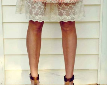 Ivory Lace Trimmed Slip- 1 Layer