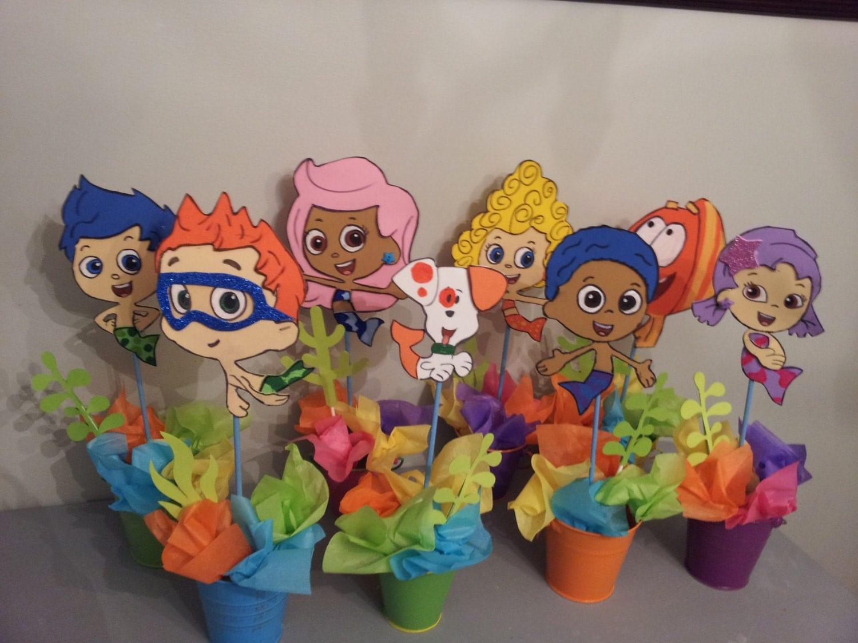 8 foam bubble guppies centerpieces party decoration - Bubble guppies center pieces ...