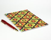 Autumn Mod Travel Journal. Blank page, 50 lb. sketch paper, Hand-bound Book, Handmade Diary