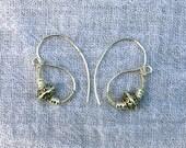 Roman Empire S Shaped Silver Earrings