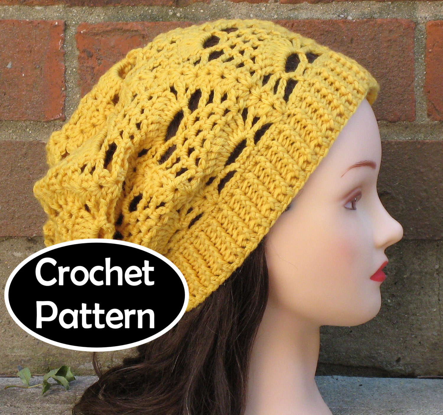 Crochet Hat Pattern Download : CROCHET HAT PATTERN Pdf Instant Download Delilah Slouchy