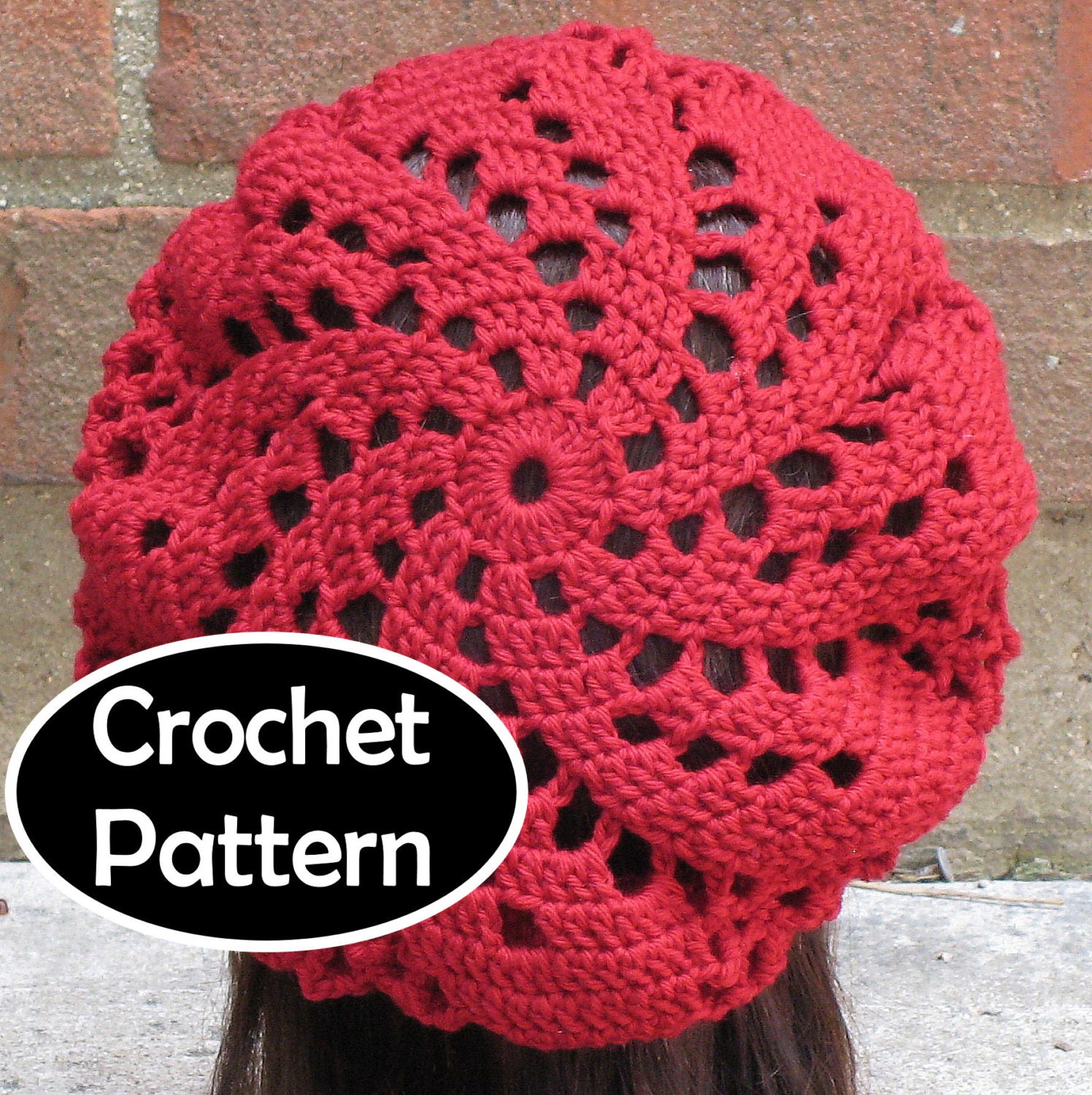 Crochet Hat Pattern Download : CROCHET HAT PATTERN Instant Download Pdf Sylvia Spiral Beret