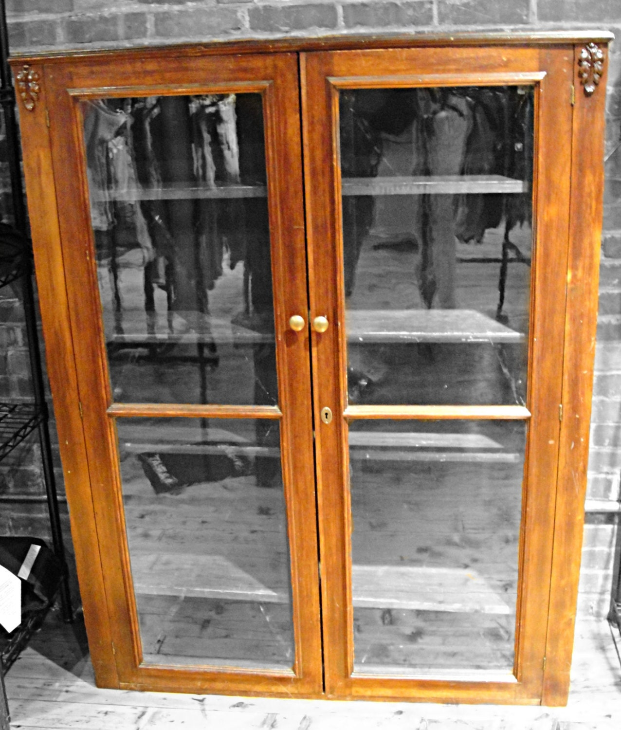 1500 #C77804 Vintage Bookcase Glass Doors Wood Filigree By RustyNailDesign picture/photo Wood And Glass Doors 40191276