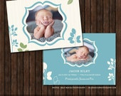 INSTANT Download PSD 5x7 Birth Announcement Card Template - B36
