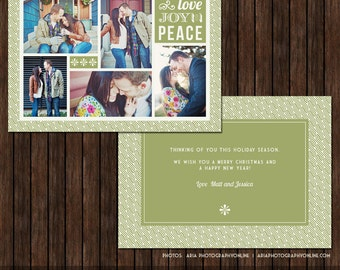 5x7 Christmas / Holiday Card Template - H7