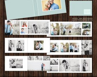 12x8 Layflat Album, Engagement Album, Guest Book, Album Template, Photo Album, Album Layout - AL5