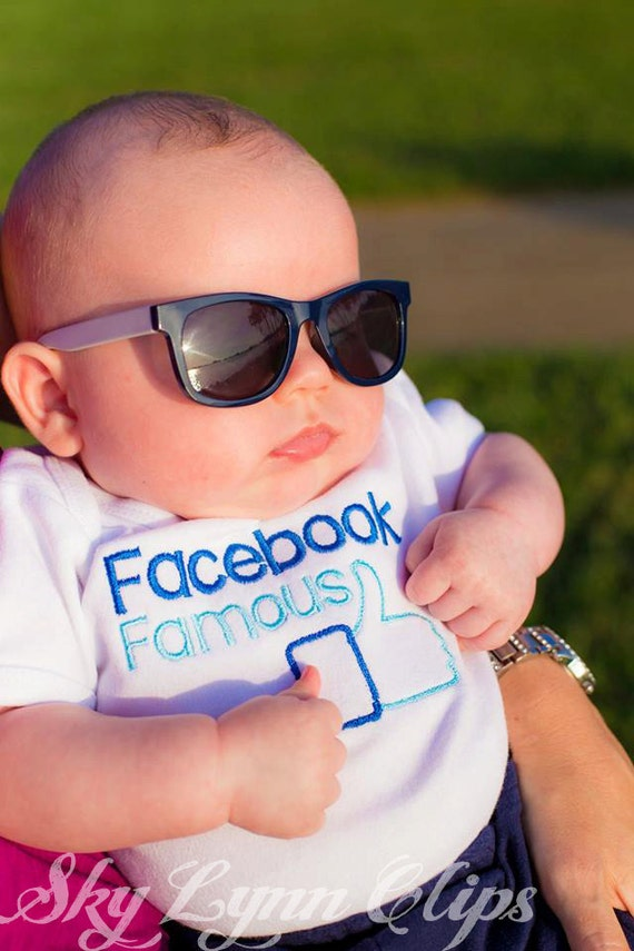 Facebook Famous Embroidered Shirt or Bodysuit