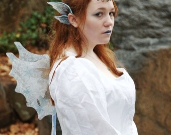 Custom Wings and Fairy Ear Wing Cuffs- Matched Set of Elf Ears and Dragon Wings, Pixie Wings or Faerie Wings for Cosplay and Costumes