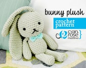 Instant Download - Bunny Plush - amigurumi CROCHET PATTERN
