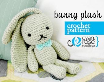 Bunny Crochet Pattern - Instant Download - Bunny Plush - amigurumi CROCHET PATTERN ONLY