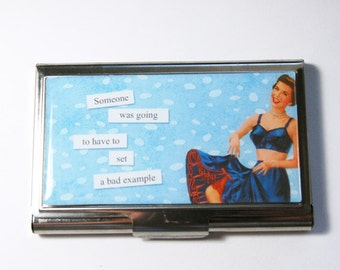 Business Card Case, Funny Card Case, Humor, Funny Business Card Case, Card case, business card holder, Bad Example (3032)
