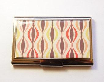 Business Card Case, Card case, Abstract Design, business card holder, Card case for her, Modern Design (3055)