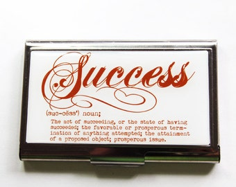 Business Card Case, Card case, business card holder, Success, Dictionary, Business Success (3089)