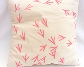 Bird Foot Print Cushion Cover : Handmade & Hand printed