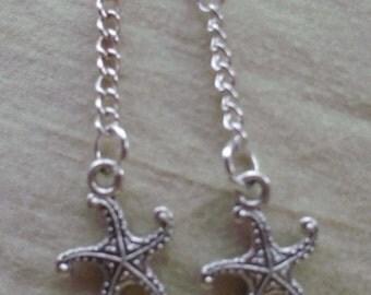 Starfish Chain Earrings