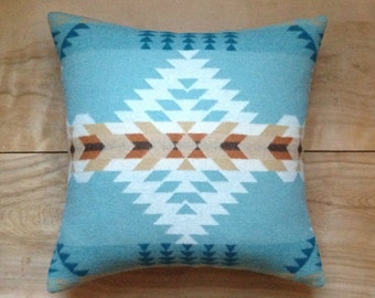 Turquoise Arrow Pillow - Southwest Western Bohemian Boho