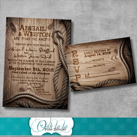 Rustic Wedding Invitation With Matching Response Card DIY