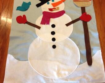 Giant Felt Snowman