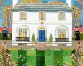 John Keats - Fine Art Print - Keats House - Autumn - Naive Art - Garden - English Romantics - Writers' Houses - Poetry - Gift for Booklovers