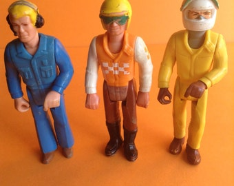 70s Fisher Price Adventure People, mixed set action figures, male, set of 3, original, collectible, Greece
