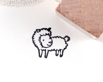 cute sheep Small Rubber Stamp