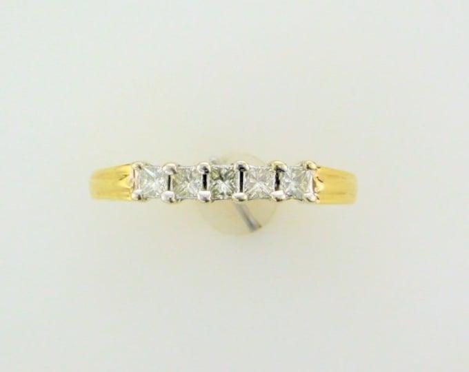 18 Karat Yellow Gold Diamond Anniversary Ring