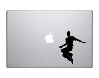 Dancer Silhouette #1 - Jumping Guy Club Dance Crew Hip Hop - Mac Apple Laptop iPad
