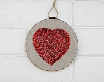 Red Wall Decor heart wall art | etsy