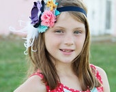Baby Headbands-Matilda Jane Inspired Headband-Newborn Headband-Matilda Jane Headband-Flower Girl Headband-Fall Wedding - AvryCoutureCreations