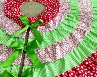 Custom 4' Ruffled Tree Skirt
