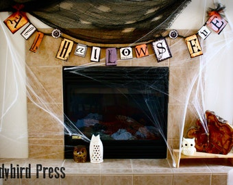 Printable Steampunk Halloween Banner Decoration - Instant Download - All Hallows Eve - AB - Digital File