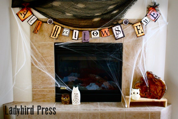Printable Steampunk Halloween Banner