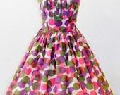 Vintage 1950's Polka Dot Party Dress  Large