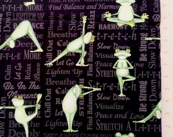 Yoga Frogs - Cotton Fabric