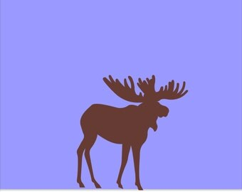 Moose Wall Vinyl Decal - Moose Wall Vinyl Decal Sticker - Baseboard Moose or Floorboard Moose