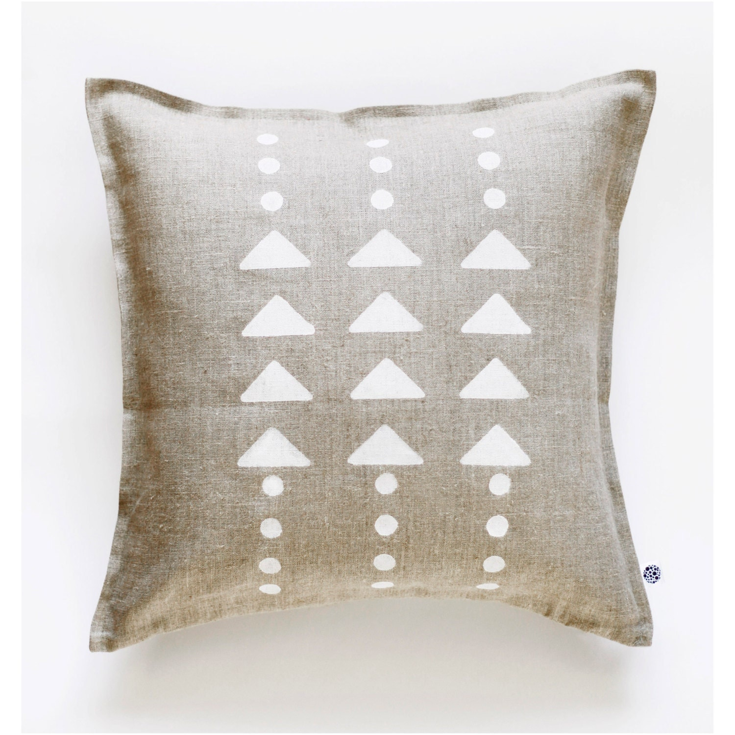 Decorative pillow cover linen pillowcase hand painted for Hand painted pillows