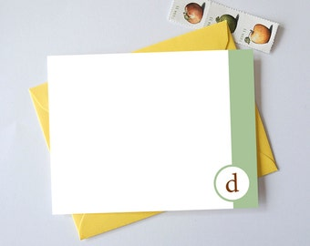 Personalized Stationery Set // Simple Initial Stationery Set - Set of 25 - Custom Stationery - Choose your own colors!