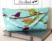 The Quarter Note Clutch PDF Sewing Pattern:  Purse, Bridal Clutch, Evening with a stylish lock and pocket